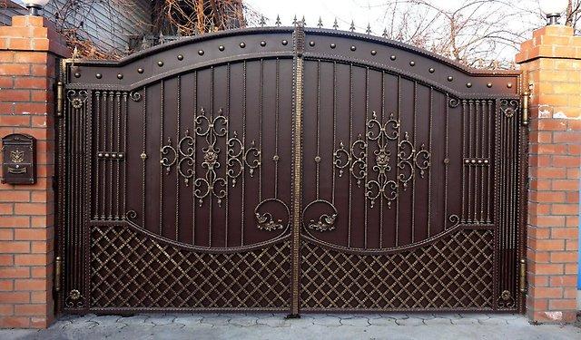 ворота кованые сварные фото