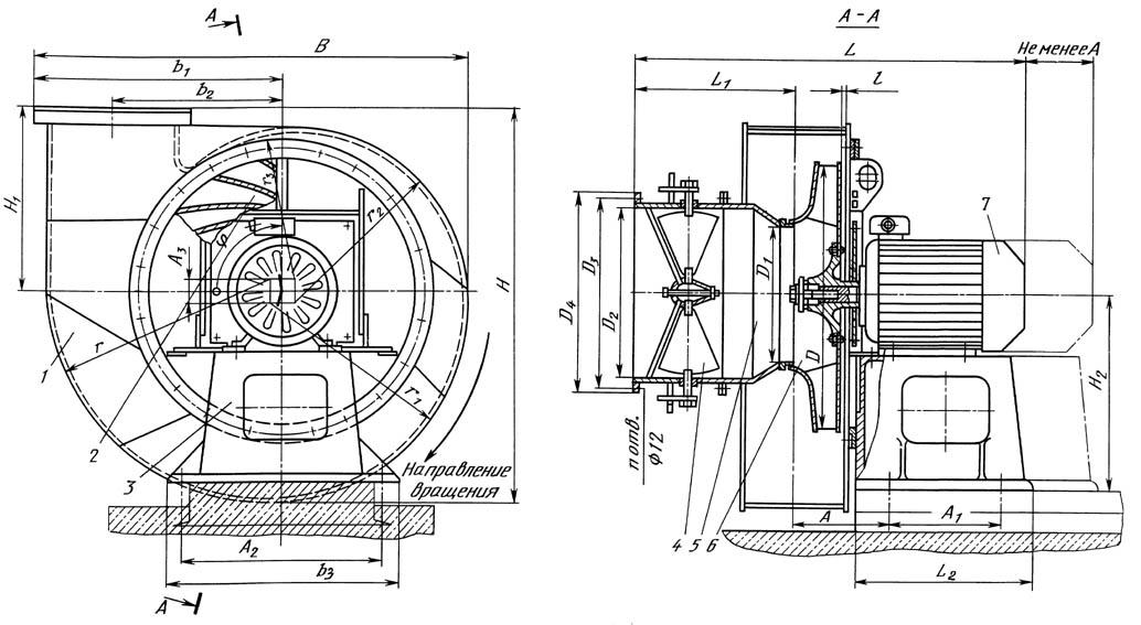 Вентилятор ВДН, Тягодутьевые вентиляторы ВДН-32Б, ВДН-28, ВДН-26, ВДН-24, ВДН-22, ВДН-20, ВДН-18, ВДН-17, ВДН-15, ВДН-12,5, ВДН-11,2, ВДН-10, ВДН-9 и ВДН-8 в Белой Церкви: изготовление, ремонт и продажа