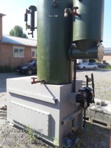 Паровой котел РИ-5М работает на твердом топливе: дрова, угольные и торфяные брикеты, крупные куски древесных отходов.