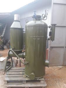 Парогенератор РИ-5М работает на твердом топливе: дрова, угольные и торфяные брикеты