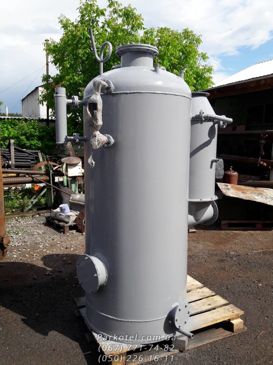 Паровой котел (Парогенератор) КД-400 на твердом топливе (дрова, уголь, торфяные брикеты)